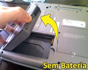 Notebook sem Bateria